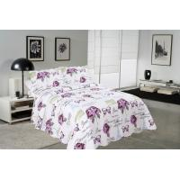 Rose / Butterfly Cotton House Quilt Covers With Colorful Printed Pattern Styles