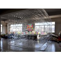 Buy cheap Transparent Inflatable Cube Tent  For Event , Outdoor Closed Air Inflatable Tent With LED Light from wholesalers