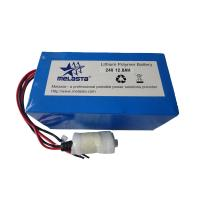 24V 12.8ah LiPo Battery Pack E-Bike Battery with PCM Melasta CE (LP5970135-7S2P)