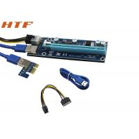 Buy cheap New PCI-E PCI E Express 1X to 16X Riser Card and USB 3.0 Extender Cable with Power Supply from wholesalers