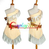 Buy cheap Wholesale Cowgirl Indian Costumes Micro Suede Brown Pocahontas Indian Princess Dress for Halloween Christmas XXS to XXXL from Wholesalers