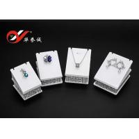 Buy cheap White Counter Top Display Stands , 4 Pieces Set Acrylic Pendant Display Stand from Wholesalers