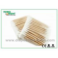 Buy cheap Single / Double Head Hospital Disposable Products Surgical Wooden Cotton Swabs 3