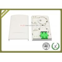 Buy cheap Indoor 2port FTTH Fiber Optic faceplate Termination Box ABS White color from wholesalers