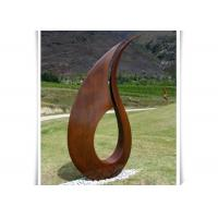 China Professional Contemporary Corten Steel Sculpture , Large Abstract Metal Sculpture on sale