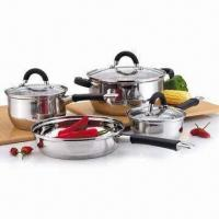 Buy cheap 7-pieces Stainless Steel Cookware Set with Pot, Frying Pan, Griddle Pan and Saute Pan from Wholesalers
