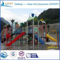 Buy cheap Open Slide Waterpark Equipment Fiber Glass Steel Pipe With Multi-Level Platforms from Wholesalers
