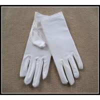 Buy cheap Wholesale top quality white/black color spandex gloves for jewerllery/Ceremonial from wholesalers