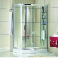 Buy cheap Automatic Curved interior Home frosted glass frameless shower doors from Wholesalers