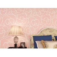 Buy cheap Light Pink Floral Modern Removable Wallpaper , Contemporary Bedroom Wallpaper from wholesalers