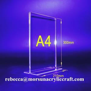 Buy cheap PMMA Bảng Tent Transparent Acrylic menu Chủ A4 chân dung hai mặt from wholesalers