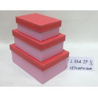 Buy cheap Pink Small Rectangular Handmade Cardboard Boxes Base And Lid For Gift Storage from Wholesalers