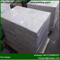 Buy cheap hot sale offset printing paper woodfree printing paper from Wholesalers