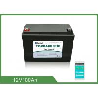 Buy cheap Bluetooth RV Camper Battery 12V 100AH LiFePO4 Heating Film For Camper Van from wholesalers
