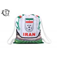 Buy cheap Iran Football National Printed Drawstring Backpack Cotton Outdoor Sport from Wholesalers