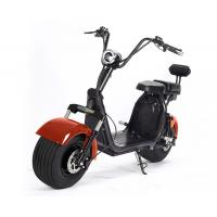 Buy cheap Red Black Fat Tire Harley Scooter For Adult , 1200w Brushless Motor from wholesalers