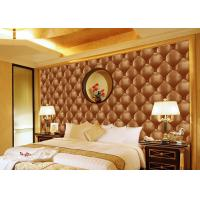 Buy cheap Concise Diamond Printing Inmitation Leather Wall Coverings Moisture Resistant from Wholesalers
