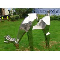 Buy cheap Life Size Outdoor Metal Sculptures Animals Deer For Landscape Decoration from Wholesalers