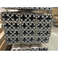China Silver and Black Anodized 6063 T5 Aluminum T slot Profile / aluminum frame extrusions on sale