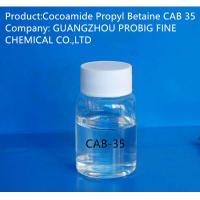 Quality Liquid Appearance Cocoamide Propyl Betaine Cab 35 Surfactant Colorless Color wholesale