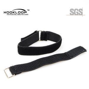 Quality Narrow Adjustable Velcro Straps , Velcro Leg Straps With Metal Buckle wholesale