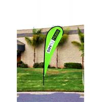 Quality Custom Teardrop Banners Advertising , Tear Drop Banners High Strength Fiberglass Pole wholesale