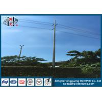 Quality Philippines Direct Burial Steel Tubular Pole 800daN for Transmission Line Project wholesale