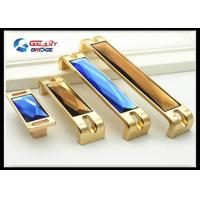 Buy cheap Blue Crystal Cabinet Drawer Handles Brown  Arcylic Furniture Decorative Cupboard Pulls from Wholesalers