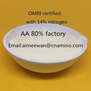 Buy cheap Hot sales plant origin enzymolysis compound amino acid powder 80% organic fertilizer ,no salt,no chloride from wholesalers