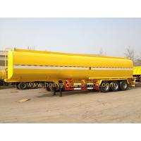 Buy cheap 45 M3 Three Axles Oil Tank Small Semi Trailer Truck Yellow And White Color from Wholesalers