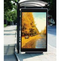 Buy cheap P3.91 outdoor bus stop innovative light box lamp post led display advertising from wholesalers