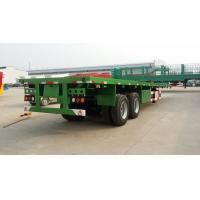 Buy cheap 2 axle 40tons flat deck container semi trailer with twist lock for cargo transport from wholesalers