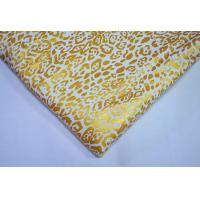 Metallic Ink Printing Plain Cotton Fabric With Beautiful Gold Color