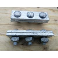 Buy cheap Anti Rust Power Line Fittings Hot Dip Galvanized Steel Cable Strand Messenger Clamp from Wholesalers