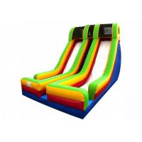 Buy cheap Double Lane Inflatable Large Slide With Protect Net On Top For Party from wholesalers