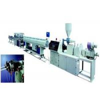 Buy cheap 20 - 63mm PVC Twin Pipe Making Machine / Double Pipe Extruder PLC Control from wholesalers