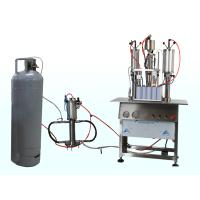 Quality 3 in 1 Semi Automatic Aerosol Filling Machine for Insecticide Pesticide Spray Pneumatic Drive wholesale