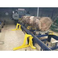 Buy cheap Hydraulic Automatic horizontal band sawmill lumber cutting used band saw with hydraulic log loading from wholesalers
