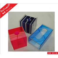 Buy cheap Fluorescence Green Car Acrylic Holder Stand , Acrylic Tissue Box 5MM from wholesalers