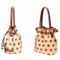 Buy cheap Polka Dot Womens Pu Leather Handbag , 23*25*15cm DrawString Bag from Wholesalers