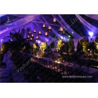 Quality Classical Wood Tables Available for Luxury Wedding Tents with Aluminum Frame wholesale