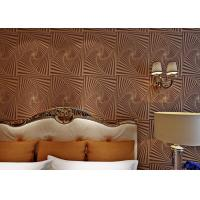 Buy cheap Non - Woven Brown Moistureproof Modern Removable Wallpaper With Dropping Beads from Wholesalers
