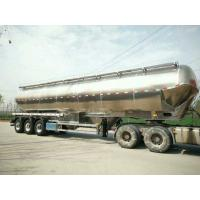 Buy cheap 55cbm Flour Tank Semi Trailer Three Axles Stainless Steel Material from Wholesalers