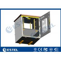 Buy cheap Outdoor Pole Mounted Telecom Cabinet / Small Enclosure For Pole Mount With 19 Inch Rack Battery Shelf from wholesalers