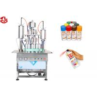 Quality Semi Automatic Aerosol Spray Paint Filling Machine Pneumatic Power wholesale