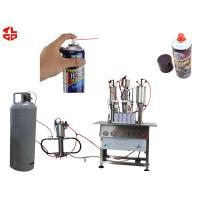 Quality Semi Automatic Aerosol Filling Machine for Carburetor Cleaning Agent Can wholesale