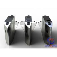 Buy cheap Full Automatic Flap Barrier Gate With Reader Card / Fingerprint Recognition For Gym / Club  Entrance from Wholesalers