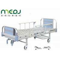 Buy cheap Double Crank Blue Hospital Bed Equipment MJSD05-09 With Four Ordinary Castors from Wholesalers