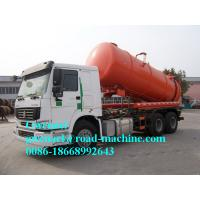 Buy cheap 4m3 - 16m3 Sewage Sewage Suction Truck Dumping System With High Pressure Italian Jurop from Wholesalers