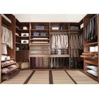 Buy cheap Knock Down Walk In Closet Wardrobe Dark Style With Kick Board , Flat Packing from Wholesalers